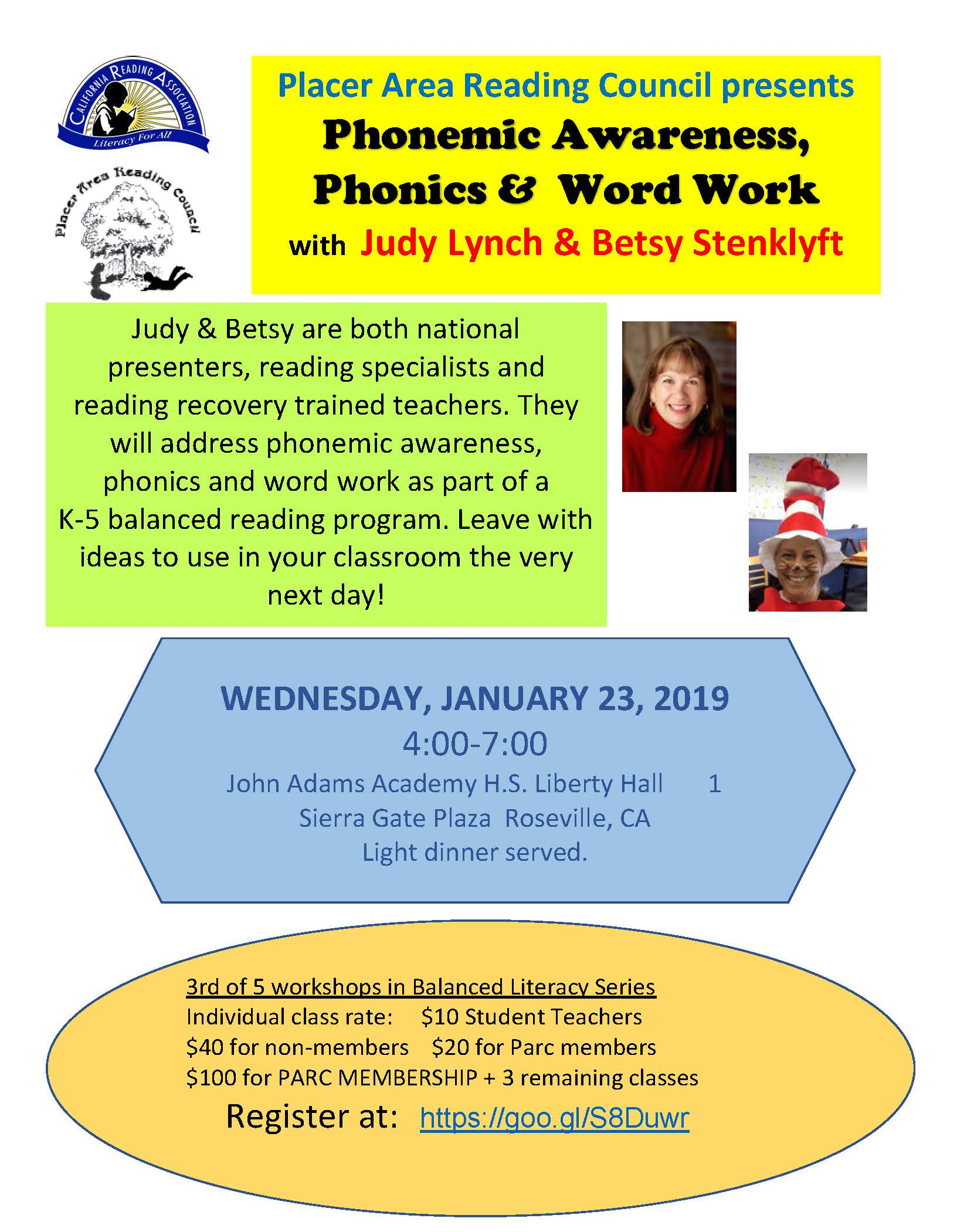 Phonics & Word Work Workshop Flyer